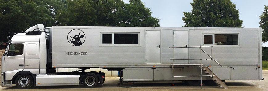 Heiderinder Truck für mobile Schlachtung, Reifung, Zerteilung und Verpackung